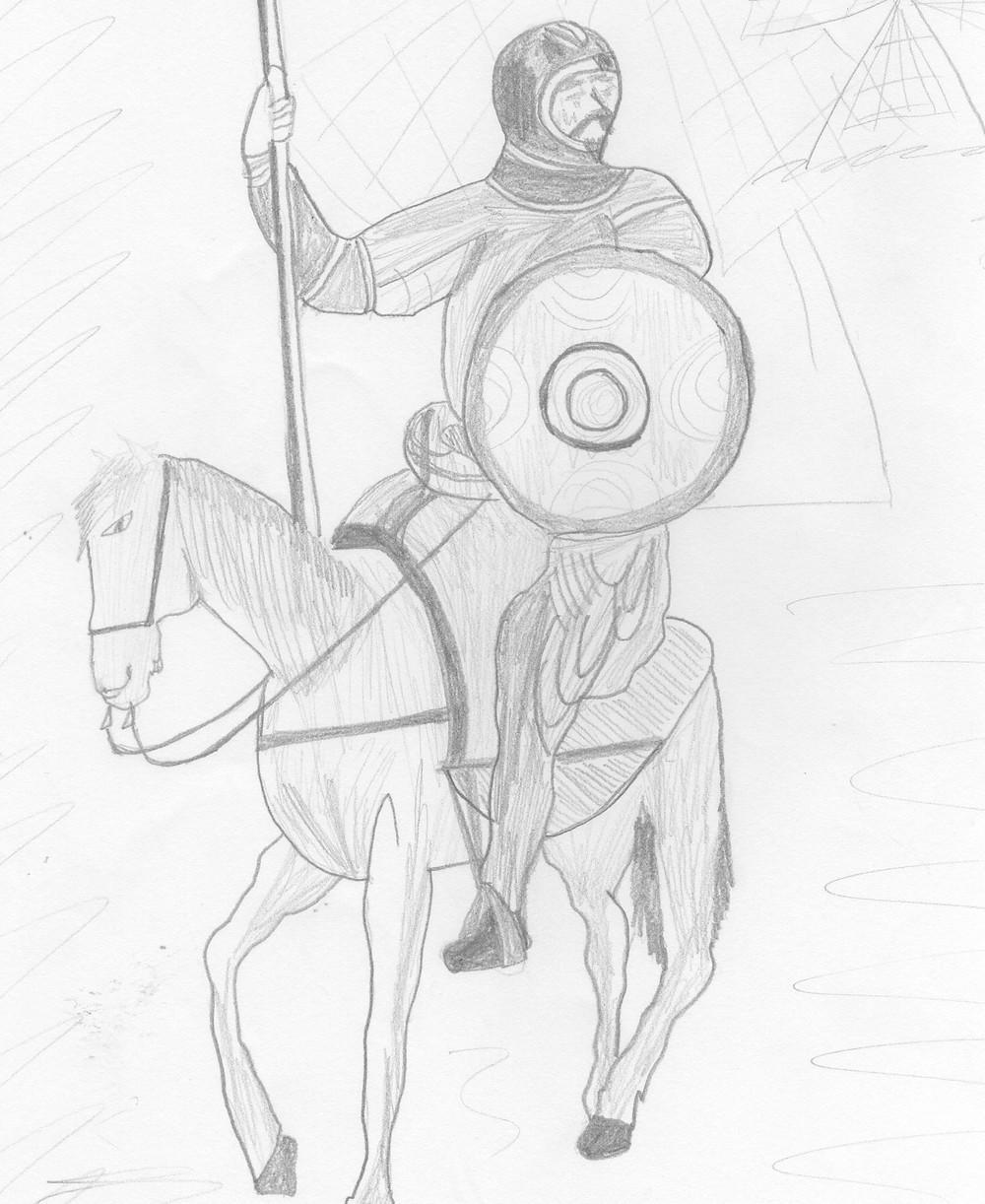 Dibujo original de la alumna Ana Tsiklauri.