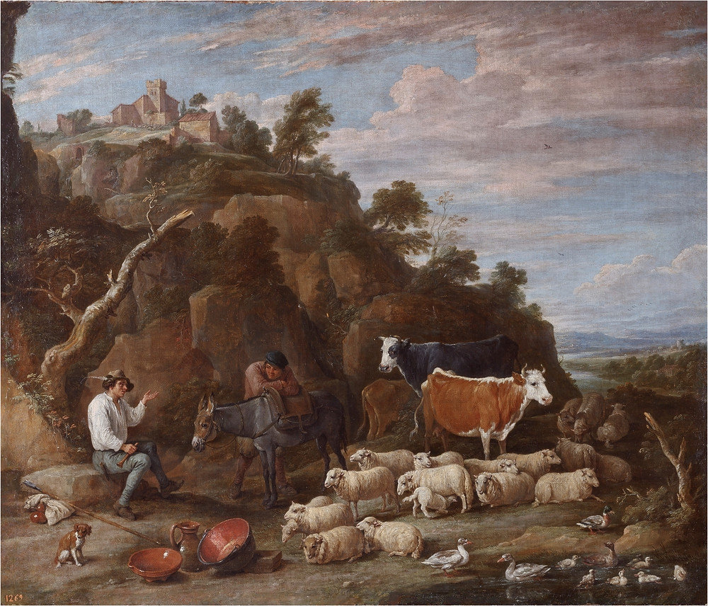 Coloquio pastoril. Teniers, David. Amberes, 1610 - Bruselas, 1690. Museo del Prado.