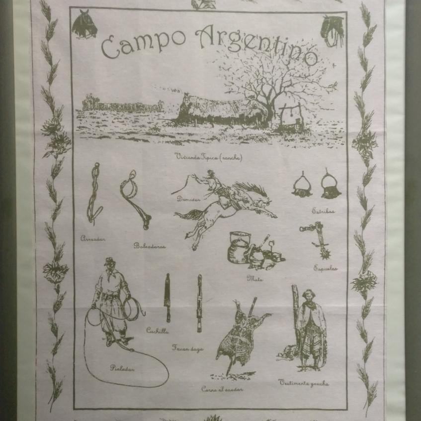 Bordado Campo Argentino.