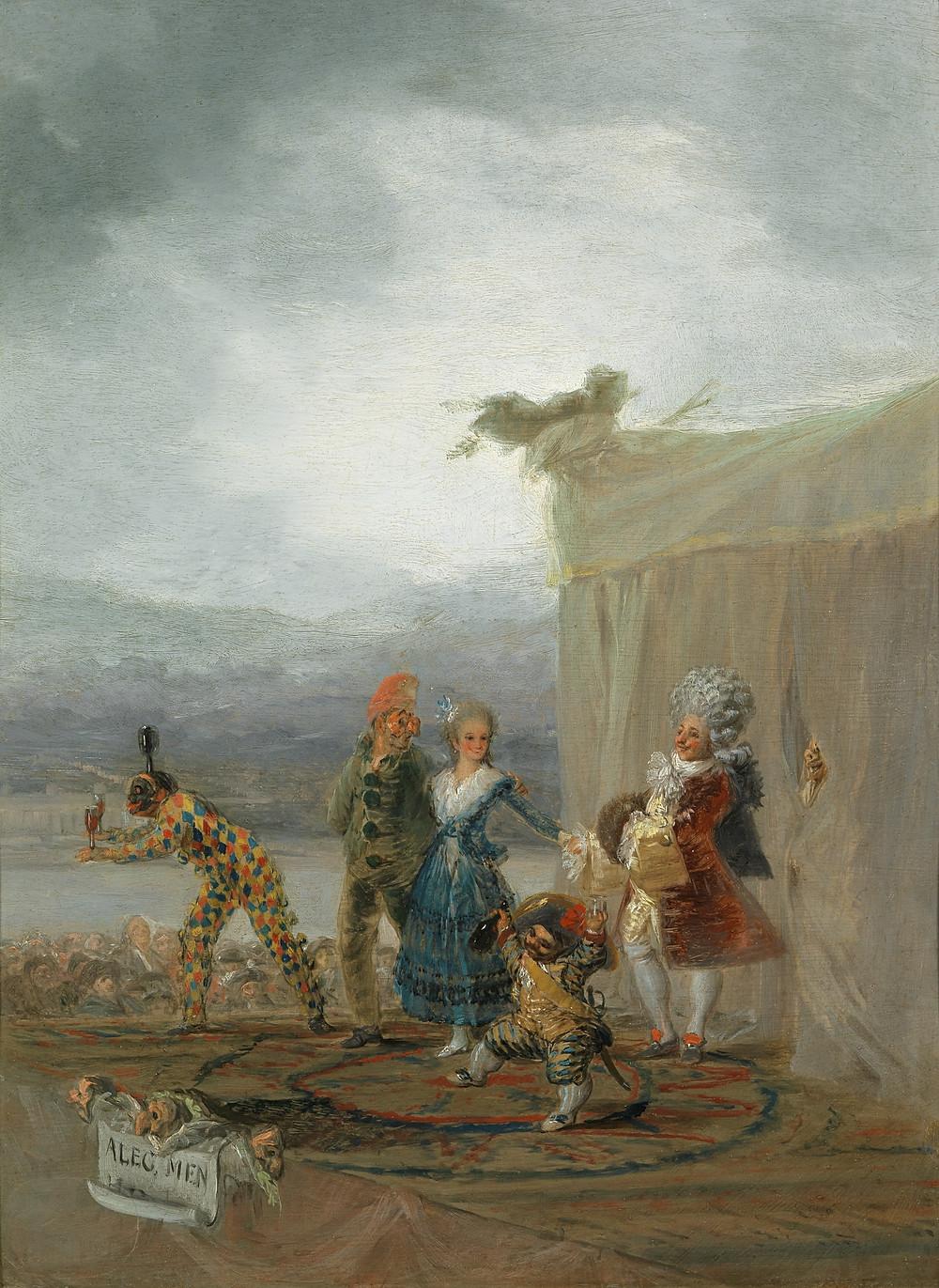 Los cómicos ambulantes. 1793. Francisco de Goya y Lucientes. Museo del Prado