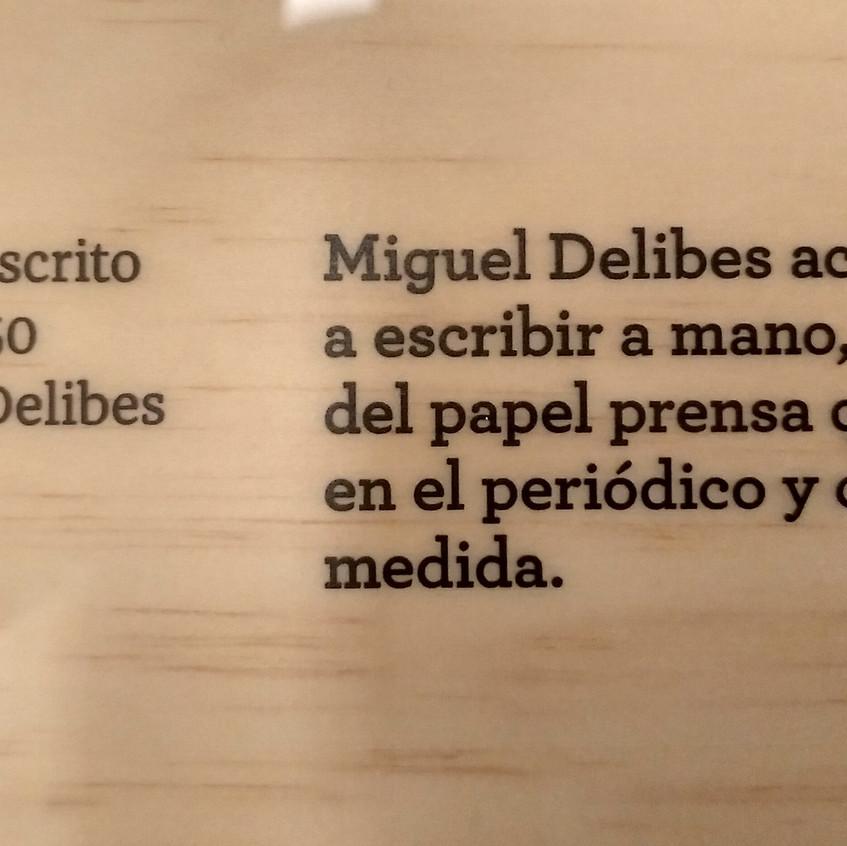Cartel sobre la afición de Delibes.