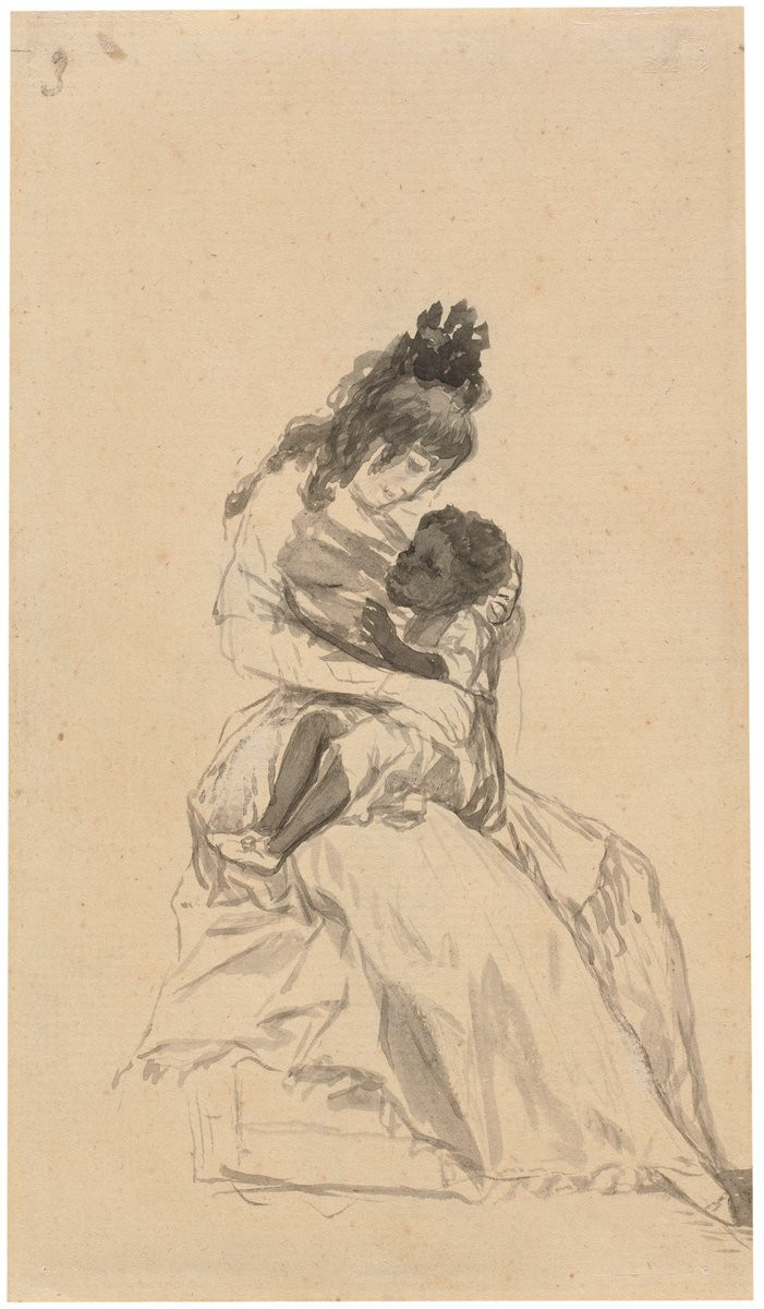 La duquesa de Alba teniendo en sus brazos a María de la Luz. Francisco de Goya y Lucientes. Museo del Prado.