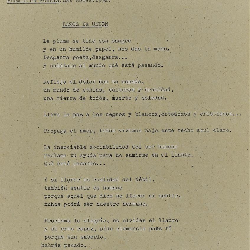 Lazos de unión. Óscar Martín Arroyo.