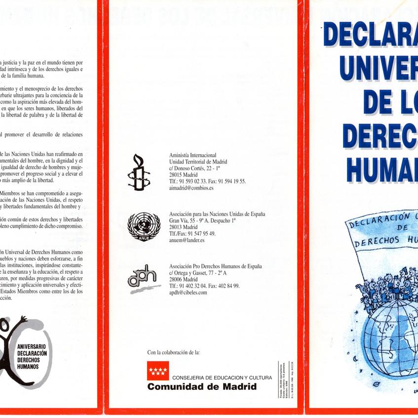 Declaración de los Derechos Humanos.
