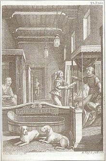 Ilustración del Coloquio de los perros. Miguel de Cervantes.