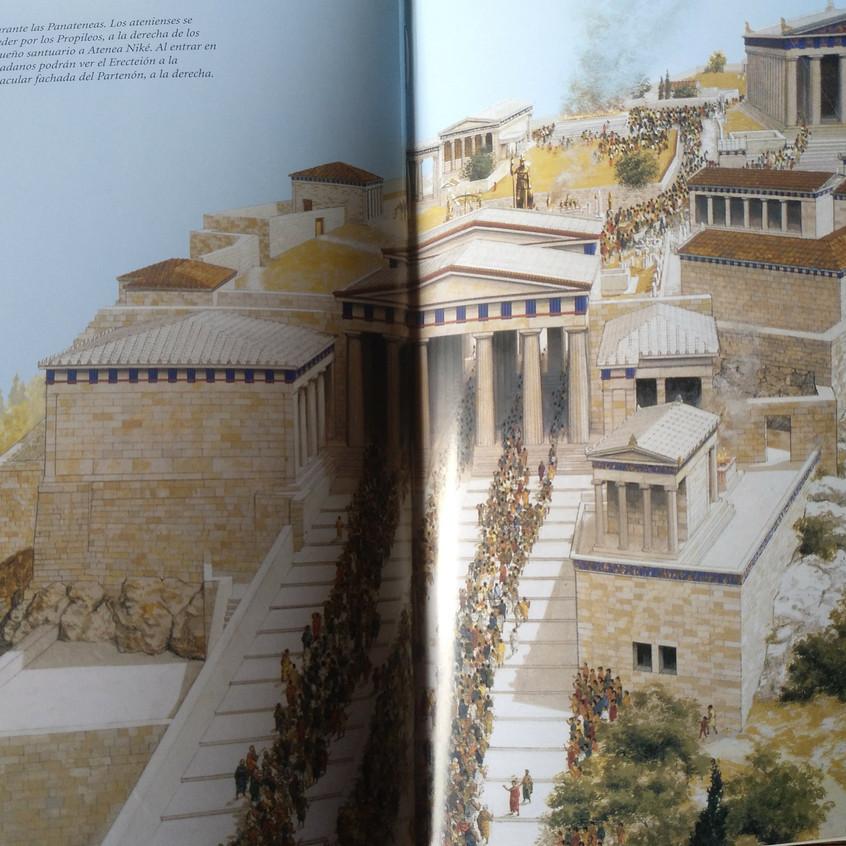 Ilustración de la Atenas antigua.