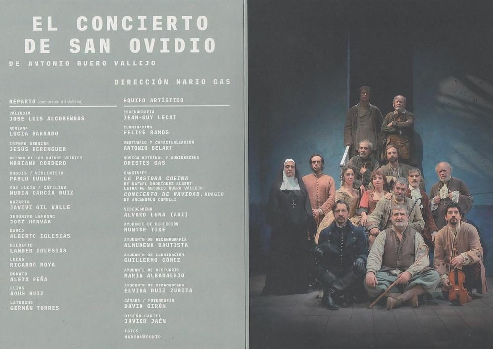 El concierto de San Ovidio. Antonio Buero Vallejo. Director: Mario Gas. Centro Dramático Nacional. 23/3 al 20/5 de 2108.