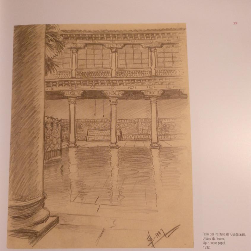 Dibujo de Buero, época del instituto