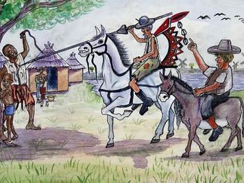 Ilustradores de Guinea, Malí y Níger <africanizan>  a Don Quijote.