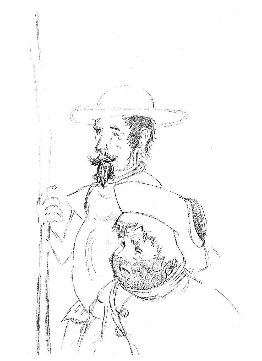Dibujo original de la alumna Cynthia Kontos