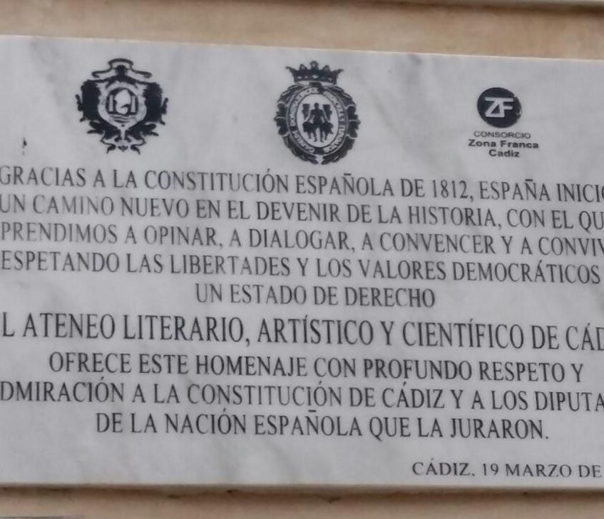 Elogio de la Constitución de 1812.