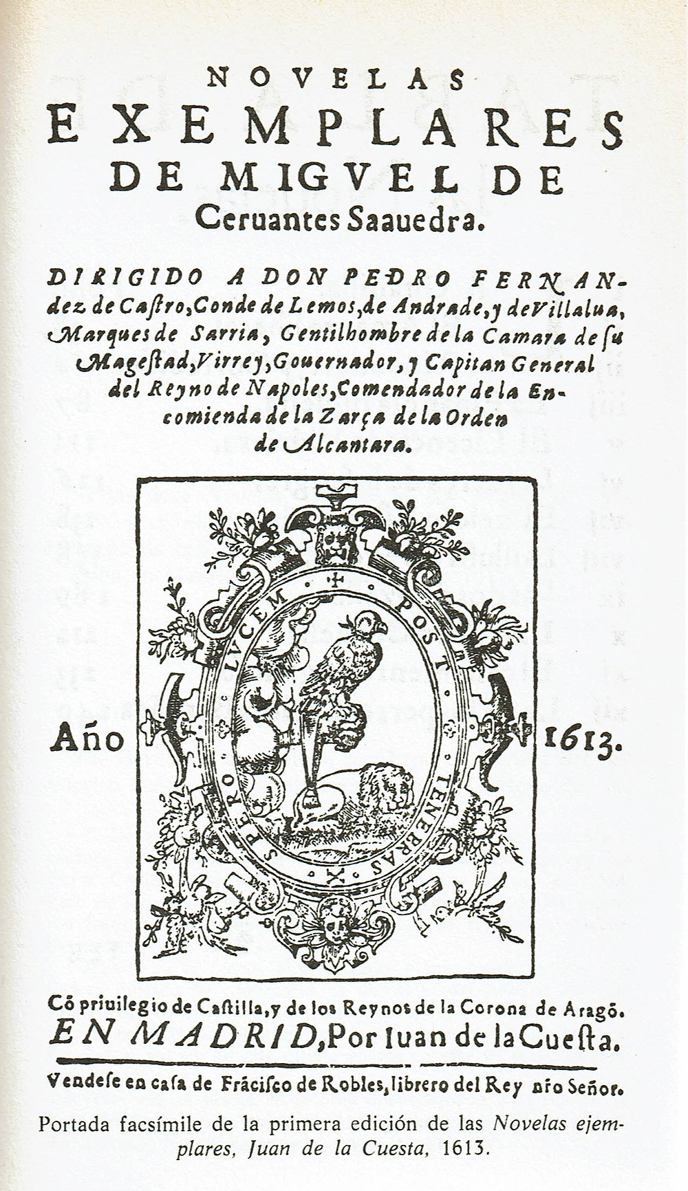 Novelas ejemplares de Miguel de Cervantes. Instituto Cervantes.