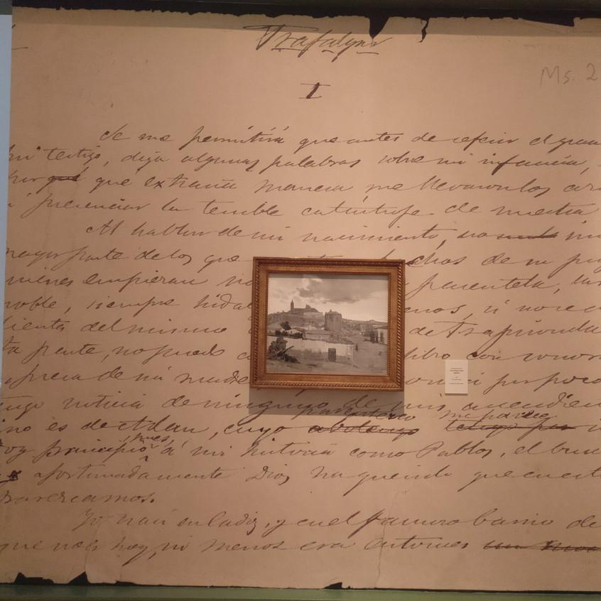 Manuscrito de Benito Pérez Galdós.