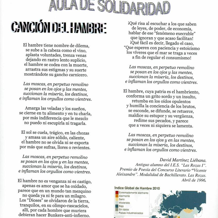 Canción del hambre. Martínez Liébana