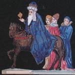 El retablo del maese Pedro. Imagen de la BNE Teatrillo de papel.