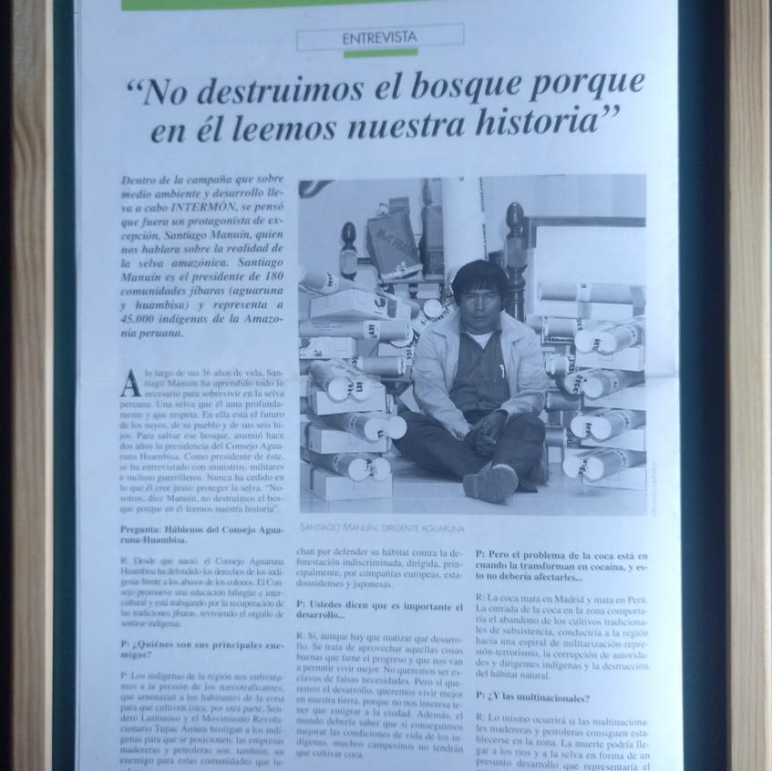 Santiago Maunín en Intermón (1993).