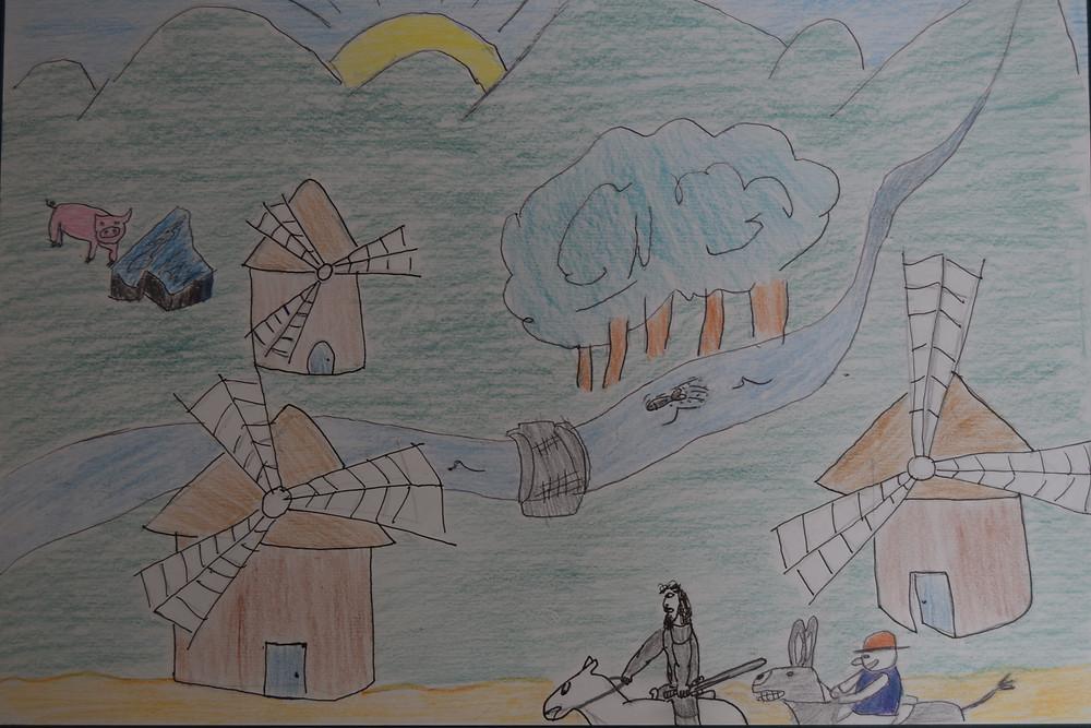 Dibujo original del alumno Álvaro Ortega.