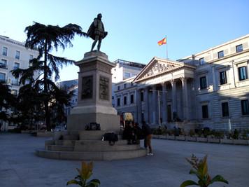 CERVANTES EN EL CONGRESO DE DIPUTADOS. Conferencia de Francisco Rico: <El justo medio: Cervantes