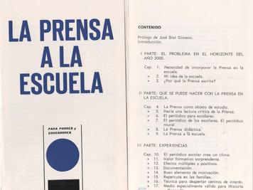 Curso sobre Prensa Didáctica para la Formación del Profesorado de <Padres y Maestros>. Diario.
