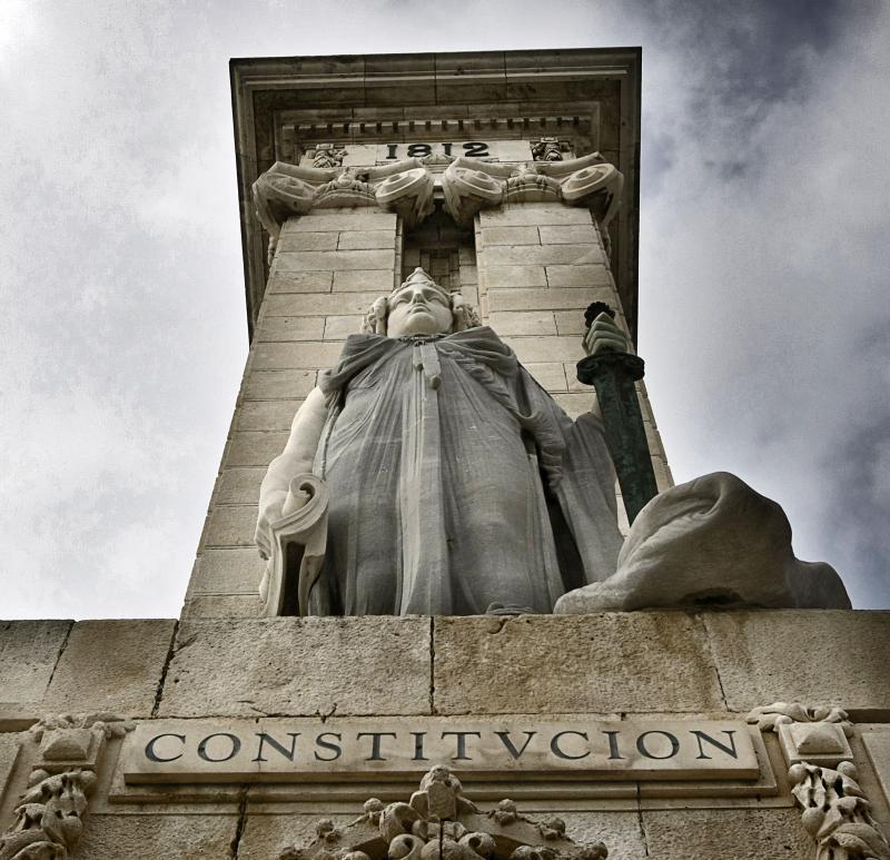 Plaza España Monumento a las Cortes.