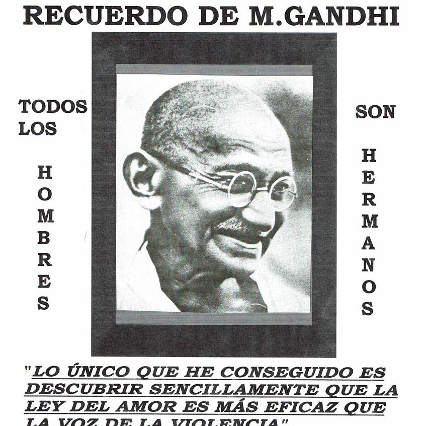 Día de la Paz en recuerdo de GANDHI.