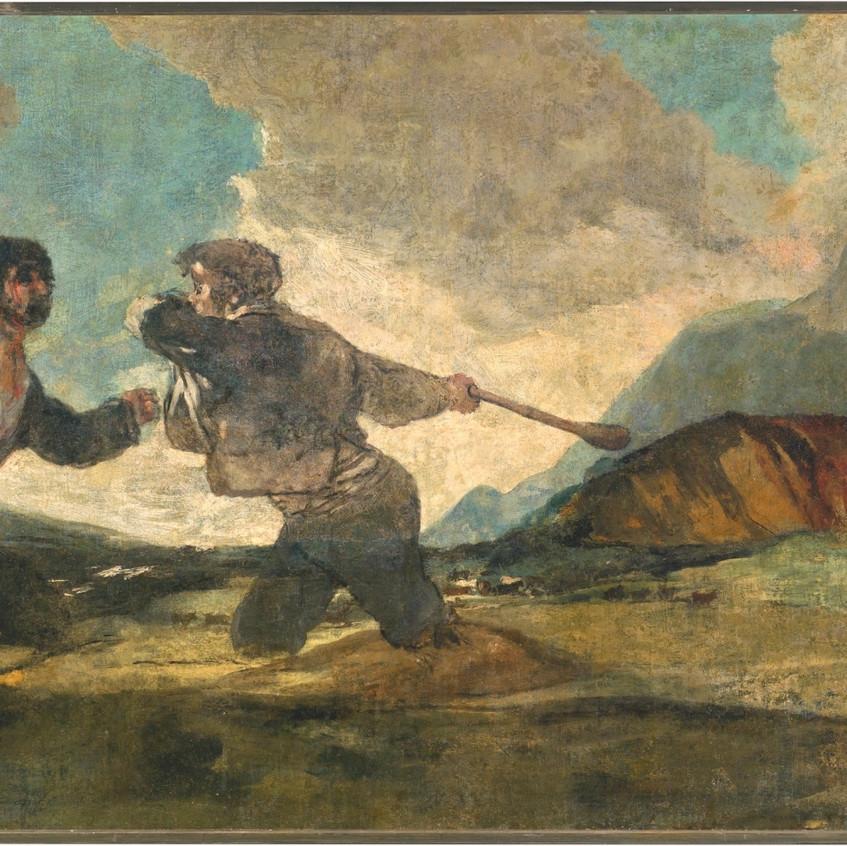 Duelo a garrotazos. Goya.