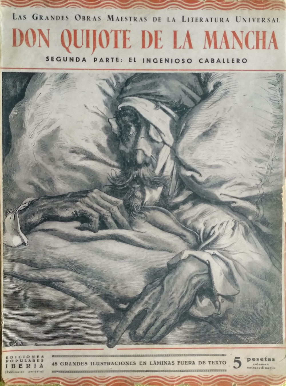 Ediciones populares Iberia. Joaquín Gil editor. Madrid. 1933. Portada de la segunda parte del Quijote.