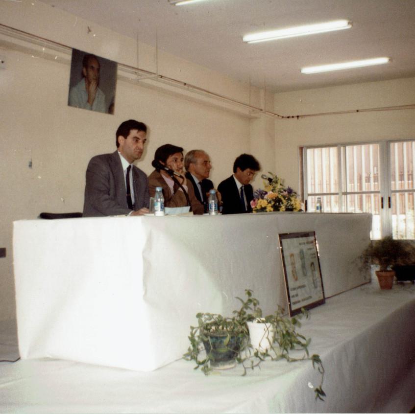 Mesa presidencial de la inauguración