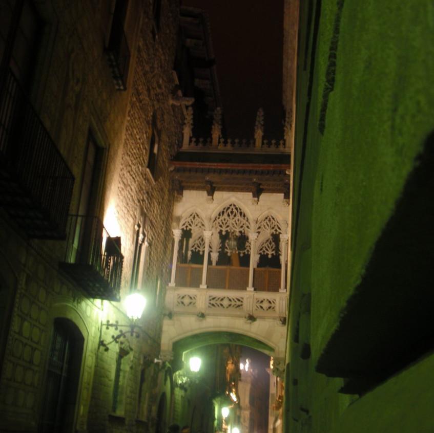 Vista nocturna Palacio Generalitat.