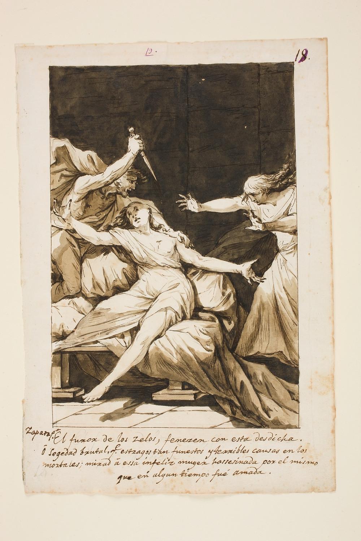 """""""El furor de los celos, feneze con esta desdicha"""". José Zapata. (Valencia 1763-1837) Museo del Prado."""