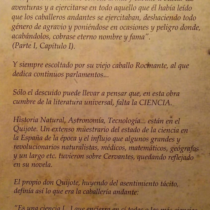 Cervantes. Ciencia en el Quijote 19