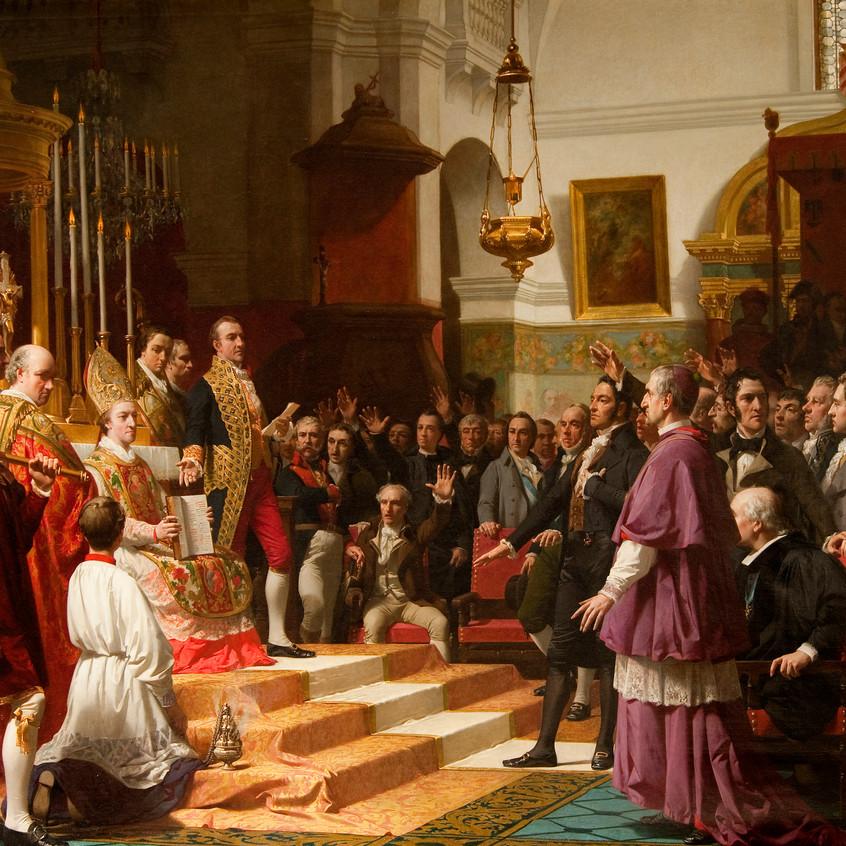 El juramento de las Cortes de Cádiz.