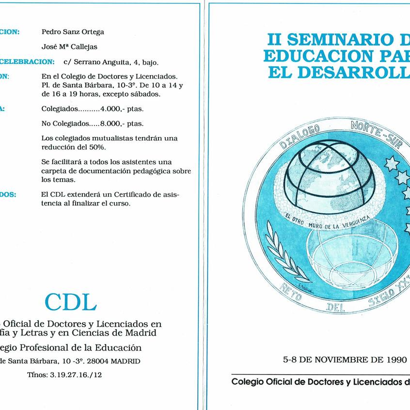 Programa organización Seminario II.