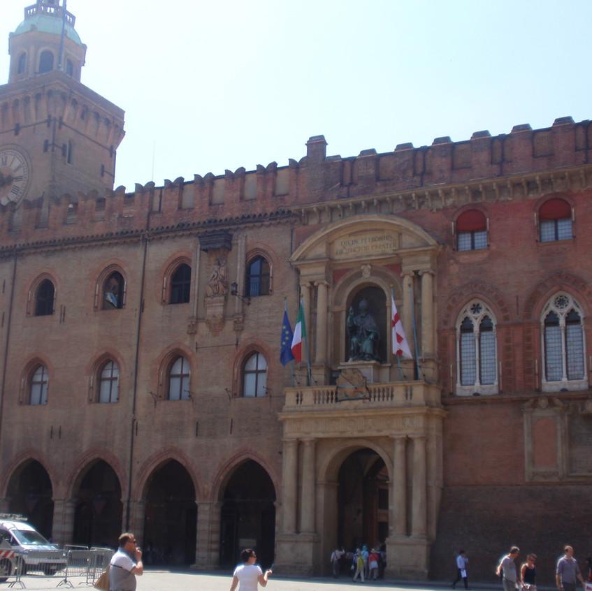 Plaza Mayor de Bolonia. Italia