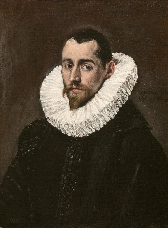 Retrato de un caballero joven. 1600-1605. El Greco. Candía,Creta, 1541-Toledo, 1614. Museo del Prado.