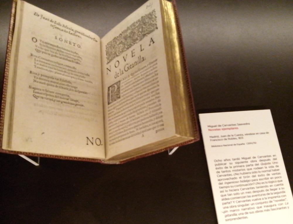 Novela La gitanilla. Miguel de Cervantes. Biblioteca Nacional de España.