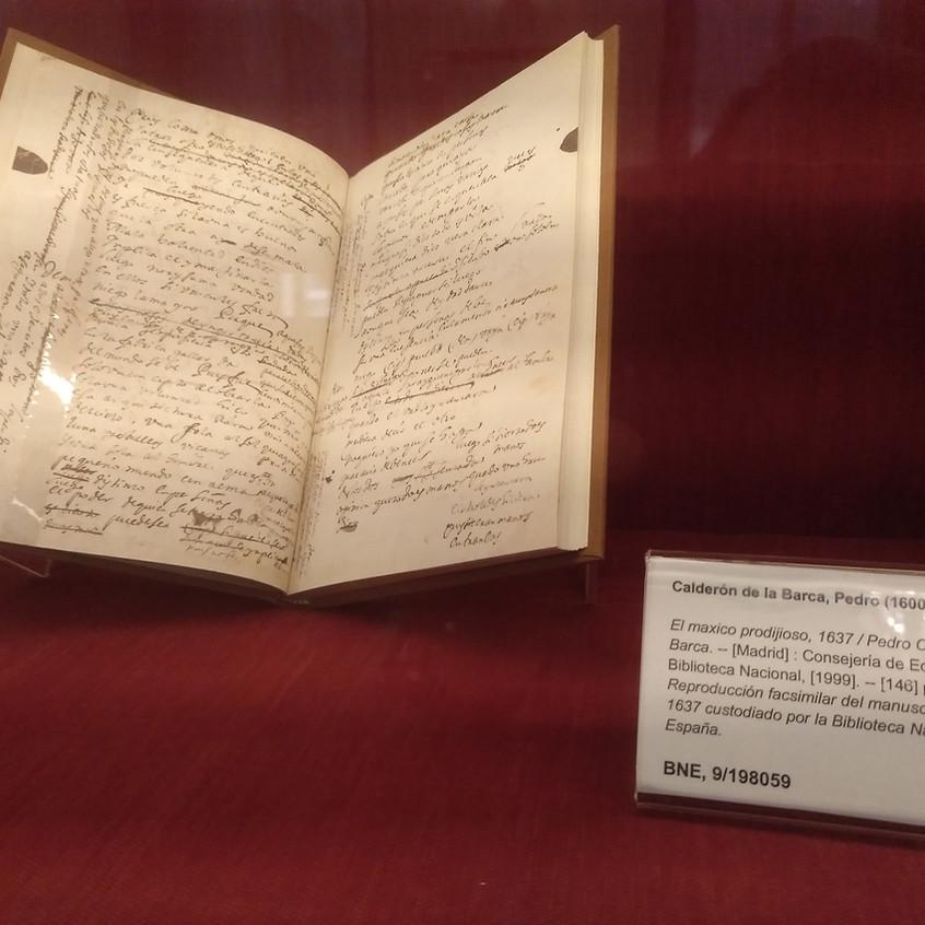 Manuscrito de El maxico prodijioso.