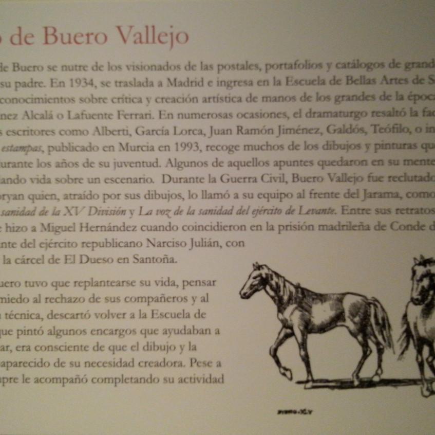 Dibujo de Antonio Buero Vallejo. BNE