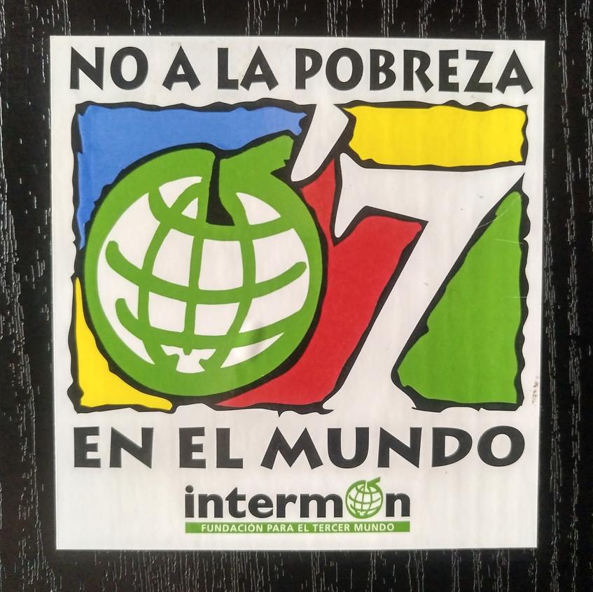 Campaña contra la pobreza. Intermón.