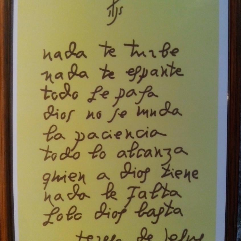Teresa de Jesús Nada te turbe.