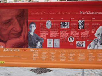 MARÍA ZAMBRANO, PREMIO CERVANTES 1988. La primera escritora ganadora del máximo galardón.