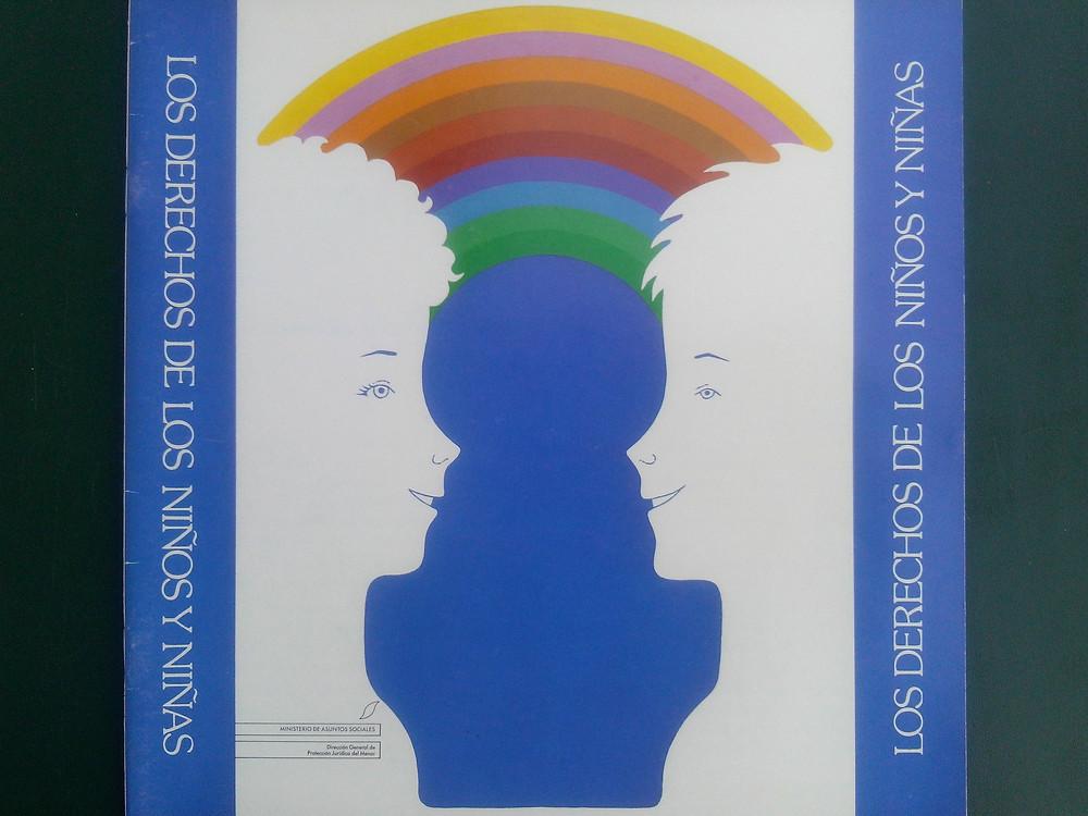 Ministerios de Asuntos Sociales. Cartel de la Exposición sobre los derechos de los niños y niñas en Madrid en 1989.