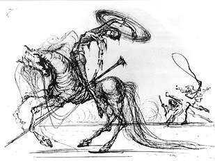 Ilustración de Salvador Dalí para una edición del Quijote. EFE.