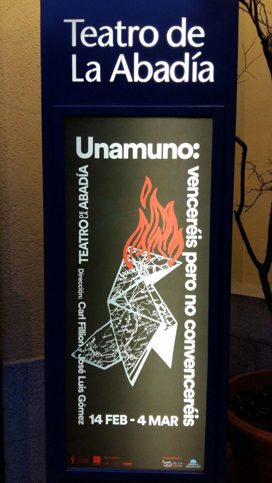 Unamuno: venceréis pero no convenceréis. José Luis Gómez a partir de textos de Miguel de Unamuno.