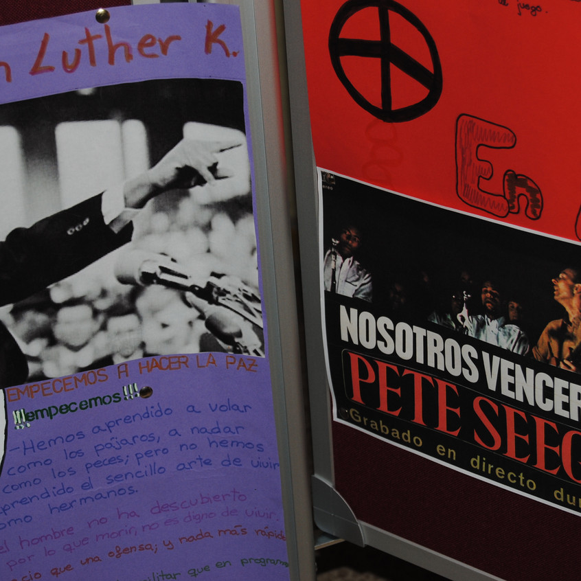 Luther King y Pete Seeger. Rozas 1.