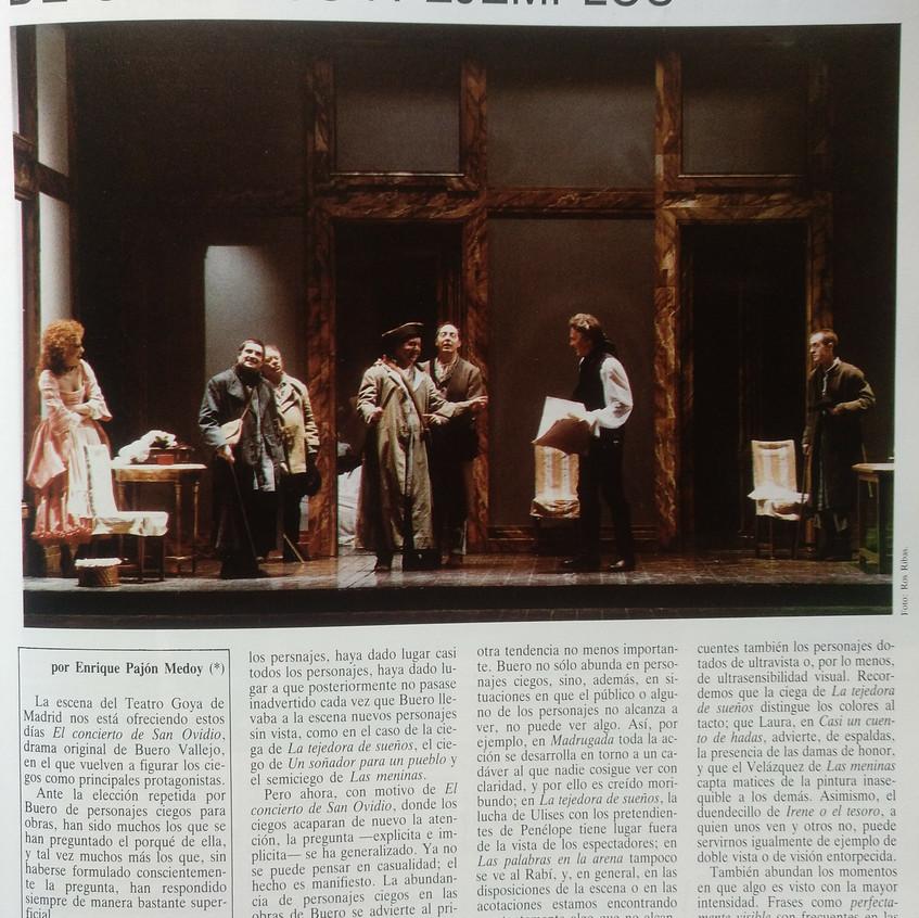 Segundo número: <El Teatro Español>.