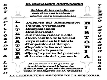 El caballero historiador. <Historia de don Quijote de la Mancha, escrita por Cide Hamete Benengel