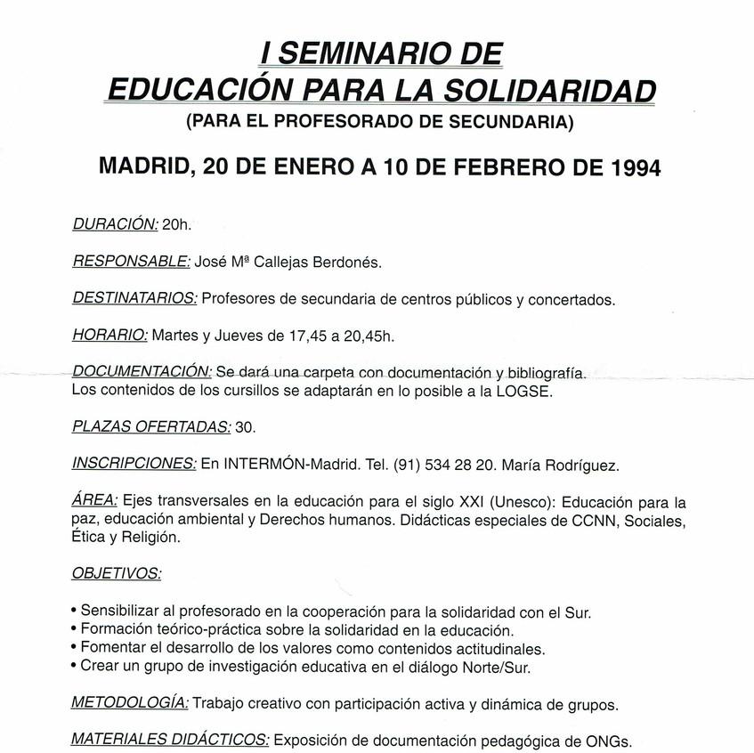 Educación para la solidaridad.1994.A
