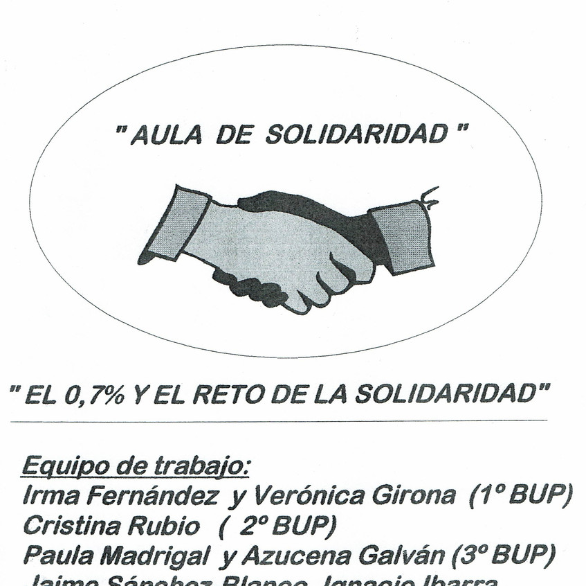 Aula de Solidaridad del IES Rozas 1.