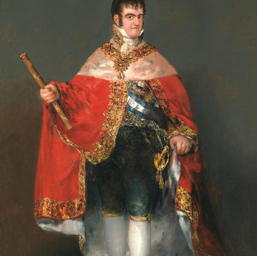 Fernando VII con manto real. Goya
